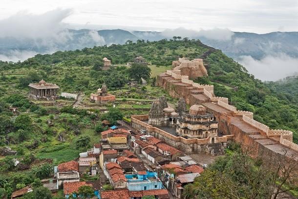 monument-Grande Muraille de l'Inde, Rajasthan, Inde
