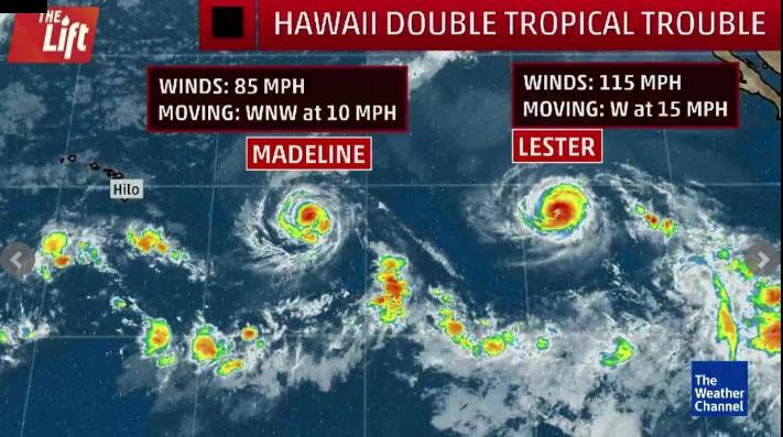 Ouragans madeline et lester