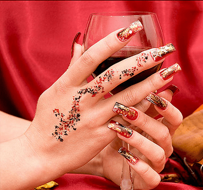 Bridal Nail Art Designs Textured Surfaces