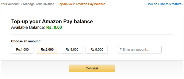Amazon Gift Card Balance Top Up