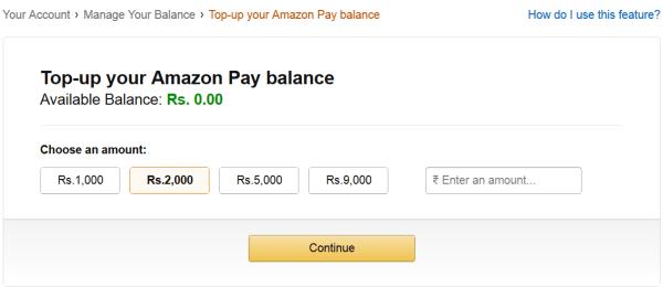 Amazon Gift Card Balance Top Up