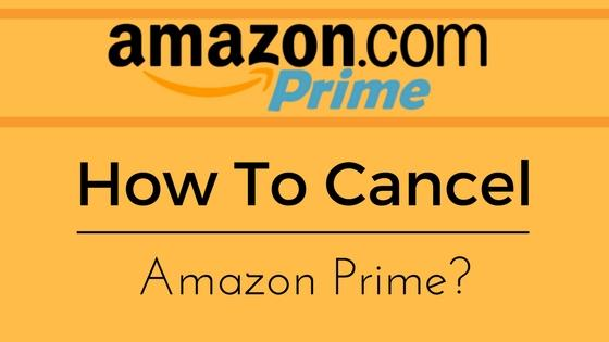 Cancel Amazon Prime Trial