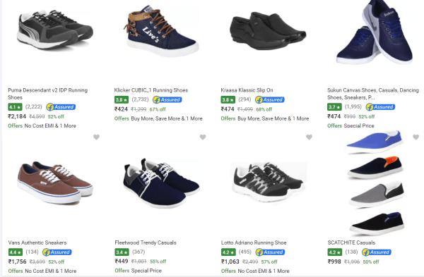 Flipkart Offers on Shoes