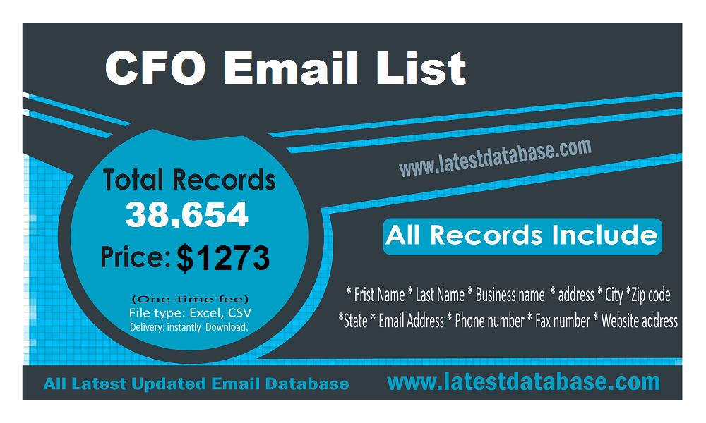 Lista e-mail CFO