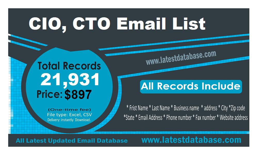 CIO CTO ईमेल सूची