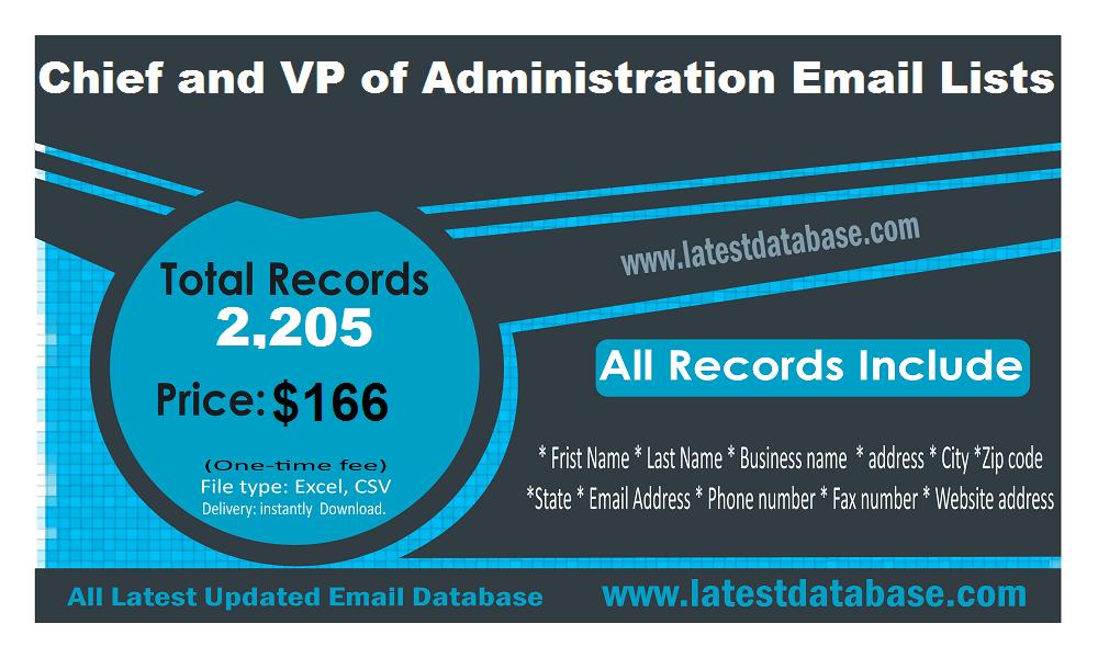Administratsiooni e-posti aadresside loendite VP-d