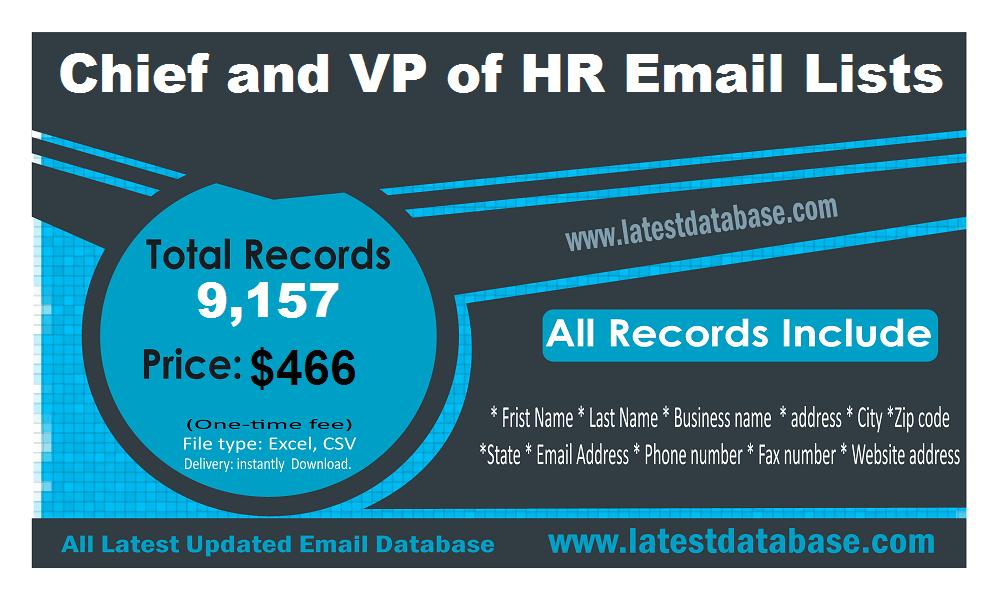 HR e-posti aadresside nimekirjade asepresident