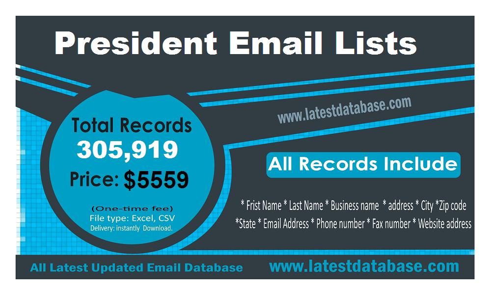 Daftar Email Presiden