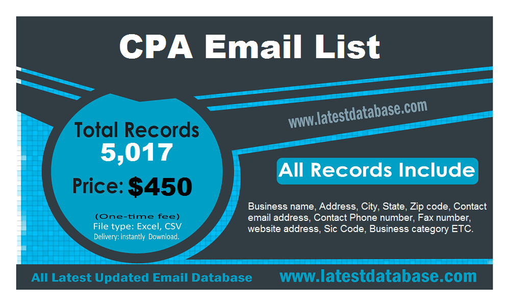 CPA 이메일 목록