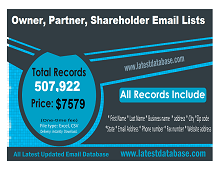 Owner partner shareholder email list