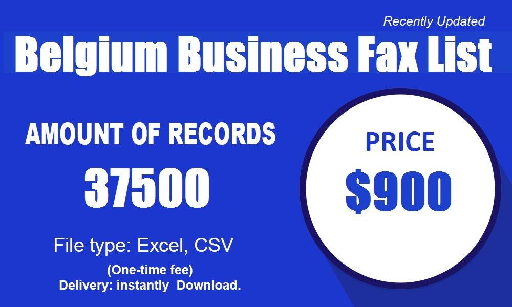 Lista de fax de negocios de Bélgica