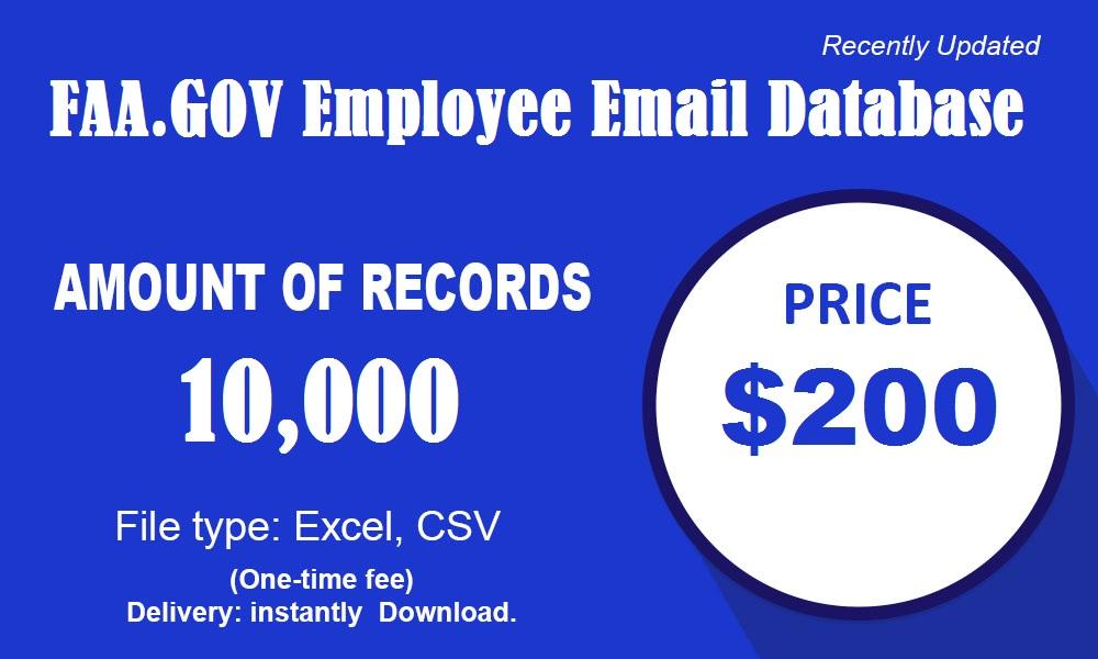 FAA.GOV База данных электронной почты сотрудников