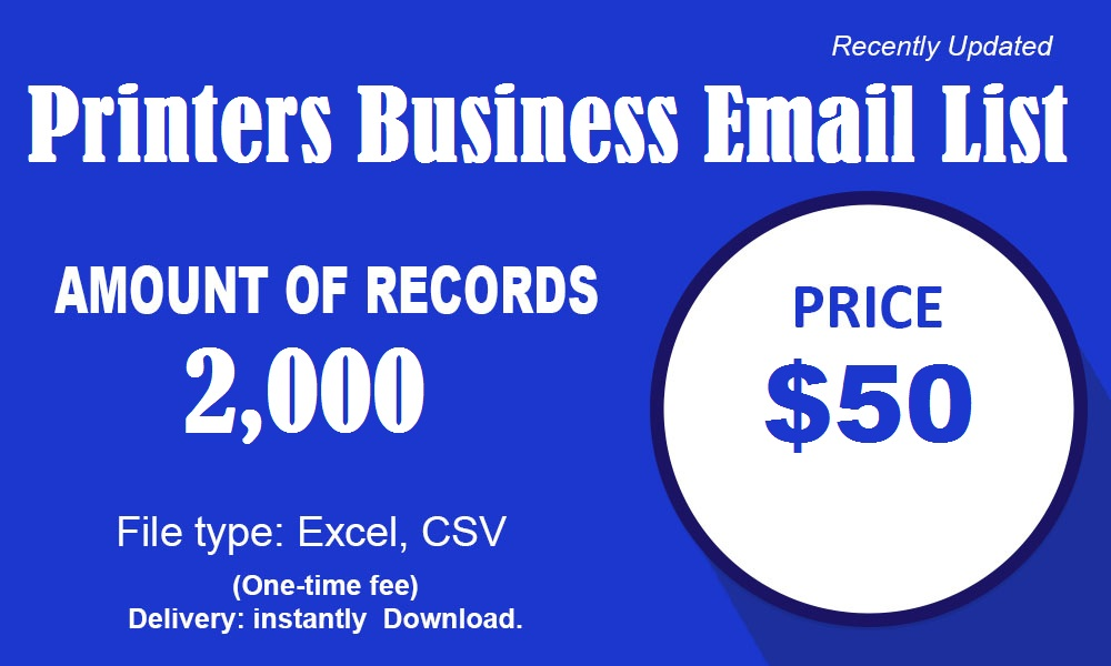 मुद्रक व्यवसाय ईमेल सूची