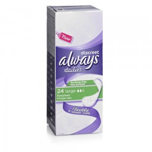 free pack of always dailies pantyliners