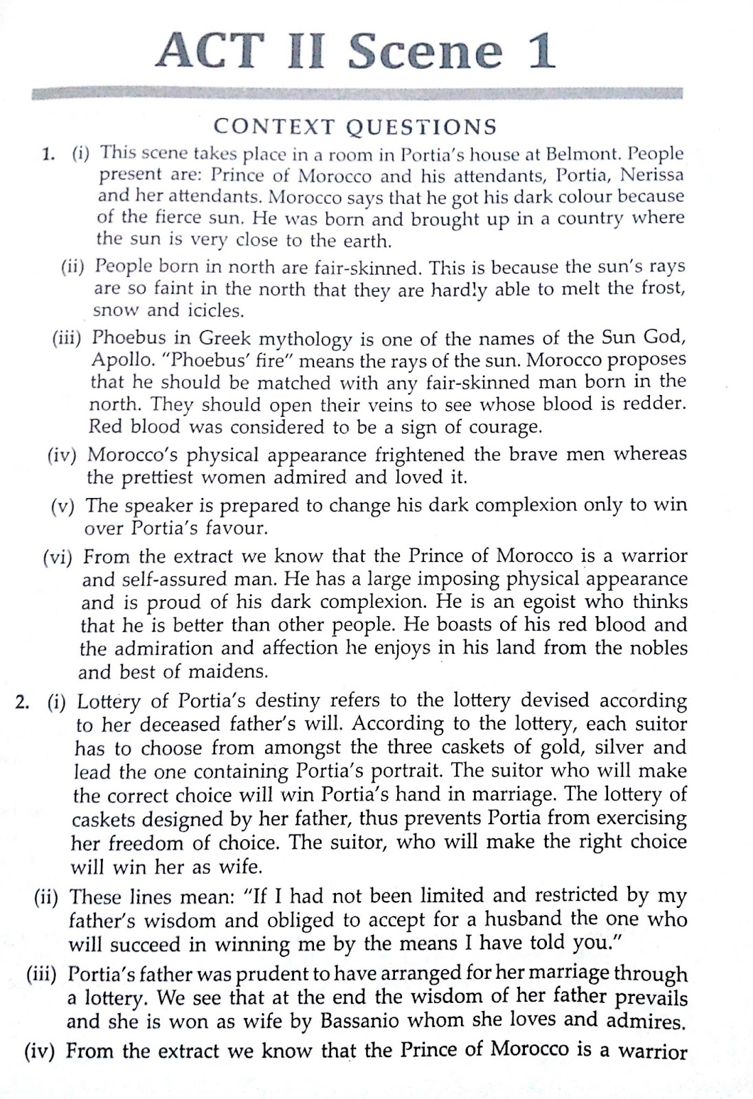 Workbook Answers Solutions Of The Merchant Of Venice Act