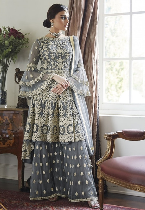Gleaming Flared Palazzo Suits