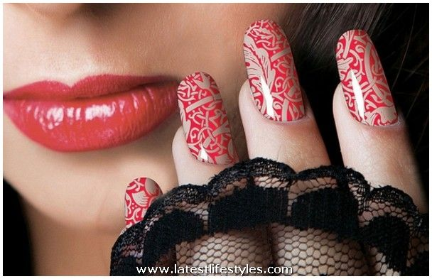 Flower Nail Art Design Beautiful Polish Picture