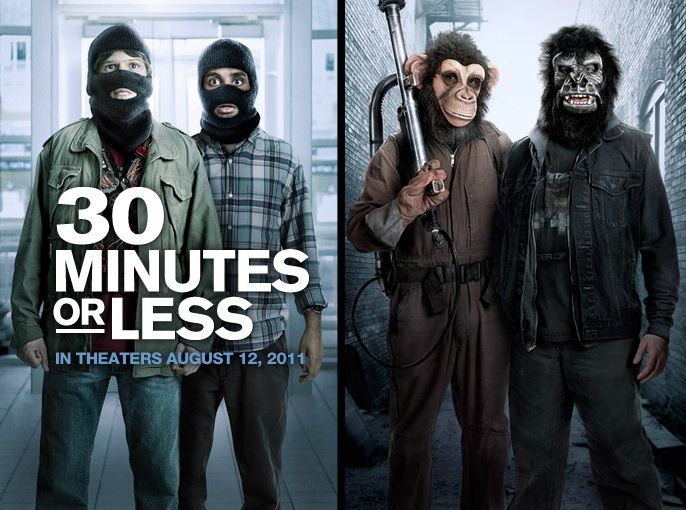 *UPDATED* '30 Minutes or Less' Trailers Offer Fast & Funny Action
