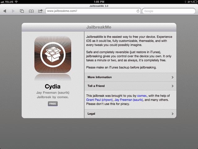 iPad 2 jailbreak released