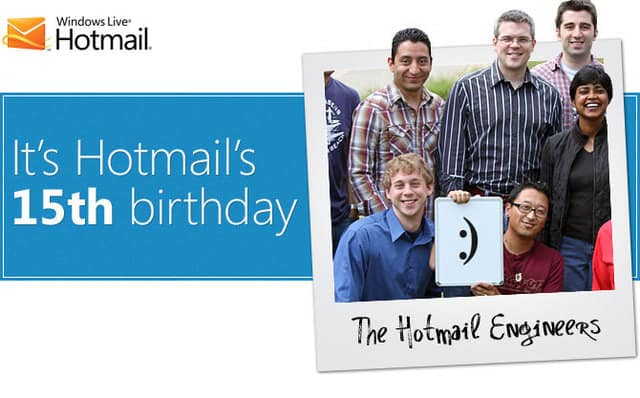 Hotmail turns 15, promotes new features