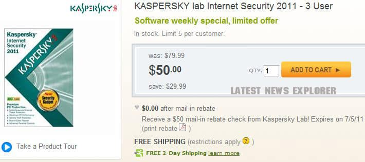 [UPDATED]*GIVEAWAY* Kaspersky Internet Security 2011 Three User Box Pack For Free