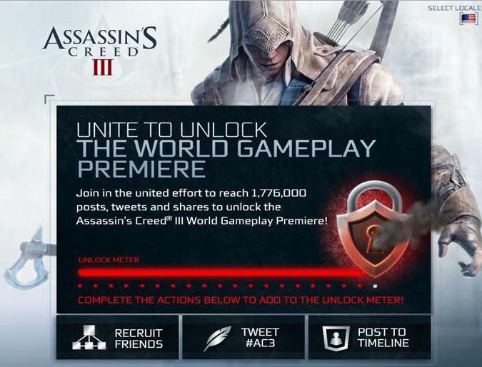 Assassin's Creed III – Unlock the Gameplay Trailer