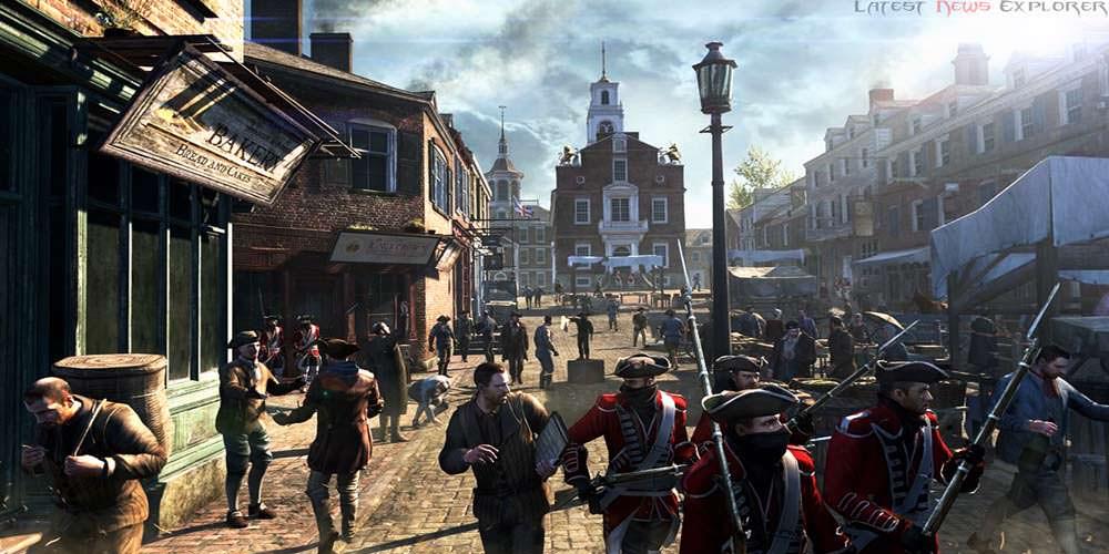 E3 2012: Assassin's Creed III – Wii U Marketplace Massacre Gameplay