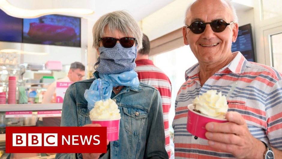 Germany eases coronavirus restrictions on shops – BBC News