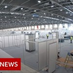 Timelapse of recent London coronavirus hospital – BBC Information