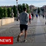 Coronavirus: Adults take pleasure in first out of doors train as Spain relaxes lockdown measures – BBC Information