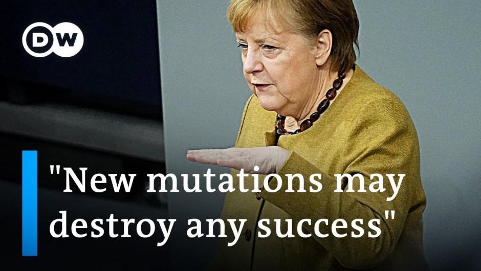 Angela Merkel warns of coronavirus mutations and defends lockdown extension   DW Information