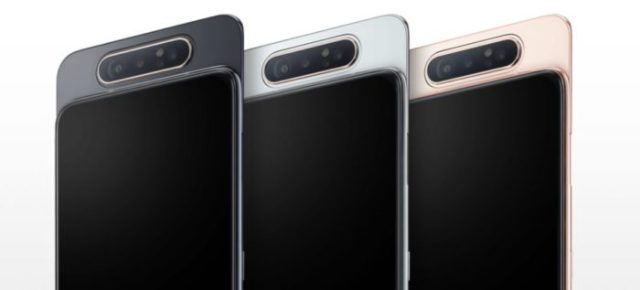 Samsung Galaxy A80, 48MP rotating camera, 8GB RAM, 3700MAh.