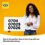 MTN Nigeria Introduces New Numbers to Their Network
