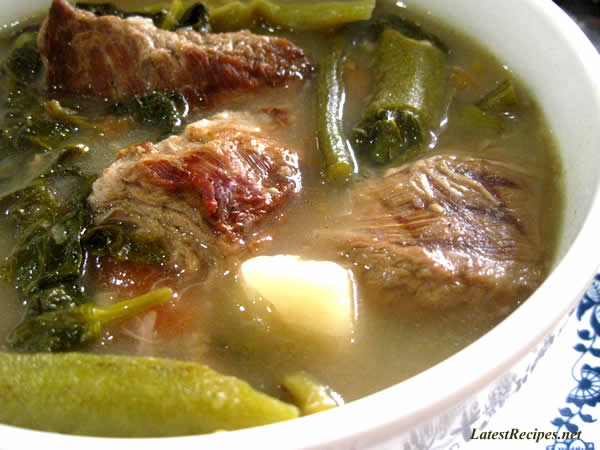 Beef Sinigang ( Beef in Tamarind Broth)