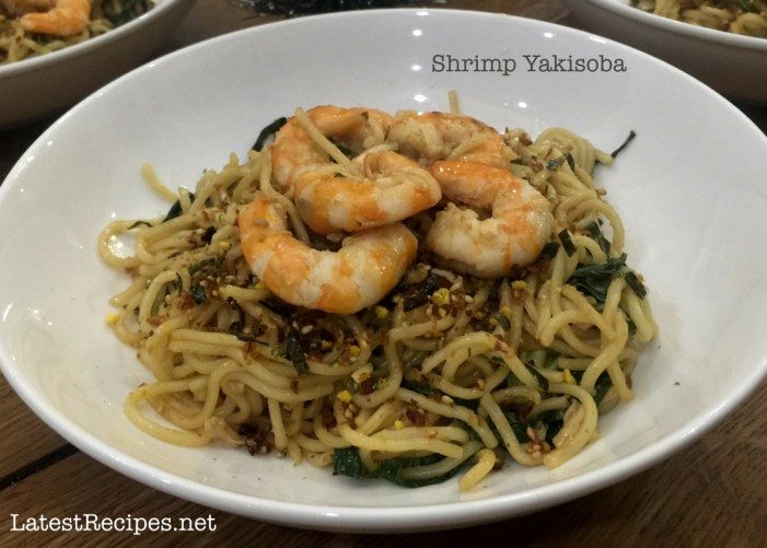 Shrimp & Chicken Yakisoba (Japanese Stir-fried Noodles)
