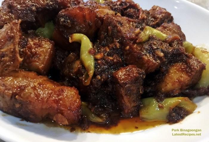 Pork Binagoongan (Pork in Shrimp Paste)