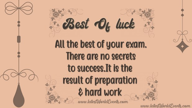 Good Luck Images For Exams Latest World Events