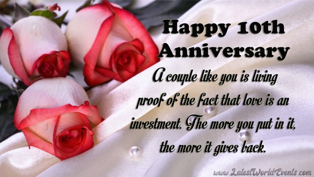 10th Marriage Anniversary Images 10th Marriage Anniversary Quotes