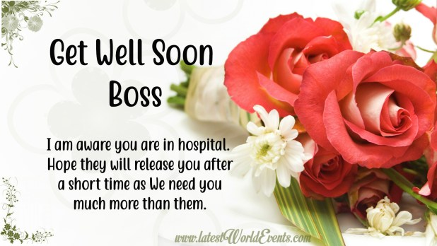 Get Well Soon Messages For Boss - Latest World Events