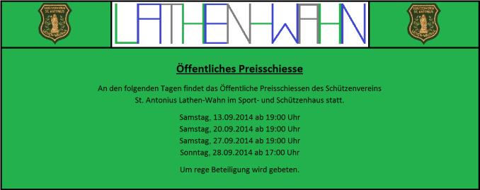 Banner Schützenverein