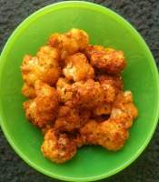 bowl of cauliflower pepper fry.
