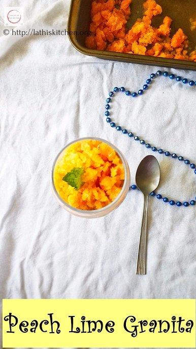 Peach Granita,  granita, desserts, summer desserts