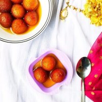 Easy Gulab Jamun using MTR Mix