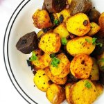 Baby Potato Roast,Vegetarian,Baby potato,roasting,indian,side dish,lunch