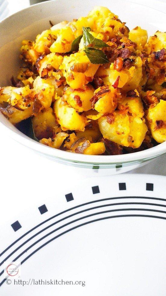 Potato Podimas, Potato, Potato Stir fry, vegetarian,Side dish