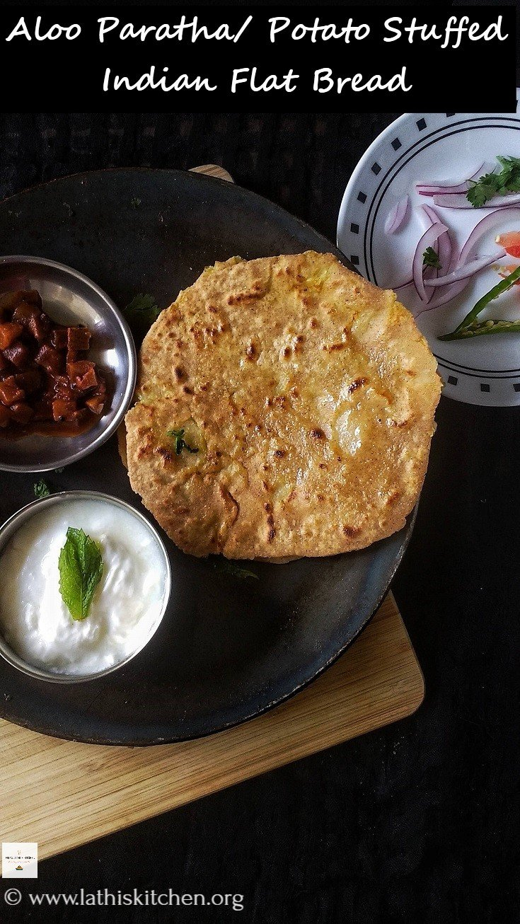 Aloo Paratha,Paratha,Indian,North Indian,Vegetarian,Breakfast,Potato