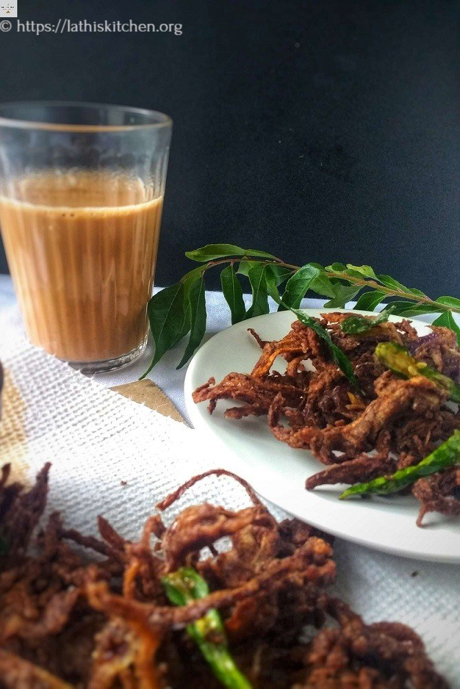 Ragi Pakoda,Fritters,Indian,Ragi,Snack,Tea time,Frying