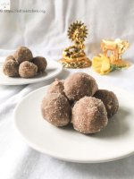 Aval Ladoo,Ladoo,Diwali,Kids,Easy,Red Rice flakes,Aval,Kids,Indian