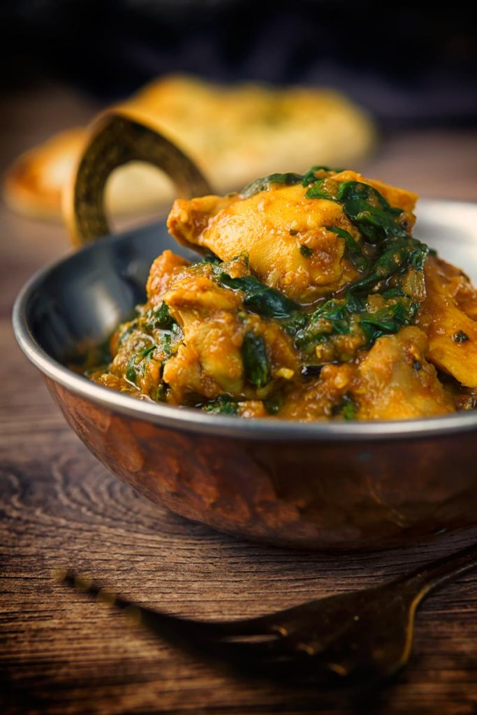 Bowl of Chicken Saag.