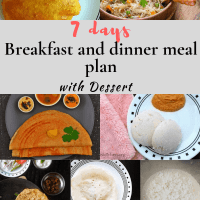 Easy Indian Breakfast Meal Plan - Weekly Menu with bonus Dinner options and tips.